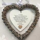 Shabby personalised Chic Special BEST Friend ~ ANY NAME Willow Heart Present BFF - 233008536318